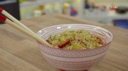 Ρύζι στο τηγάνι με ψητό χοιρινό