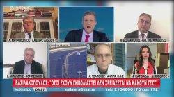 Βασιλακόπουλος σε ΣΚΑΪ: Όσοι έχουν εμβολιαστεί δεν χρειάζεται να κάνουν self test