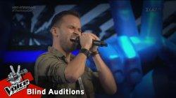 Στέφανος Στεργίου - Highway to Hell   2o Blind Audition   The Voice of Greece