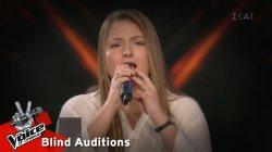 Παναγιώτα Θεοδωροπούλου - Με τα μάτια κλειστά   5o Live   The Voice of Greece