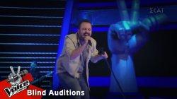Βασίλης Χατζηστεφάνου - Basket Case | 8o Blind Audition | The Voice of Greece