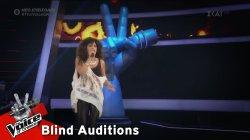 Σάρα Αθηνά Χαϊντάρ - Smells Like Teen Spirit | 3o Blind Audition | The Voice of Greece