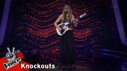 Χριστίνα Παπαδοπούλου - Last Kiss | 1o Knockout | The Voice of Greece