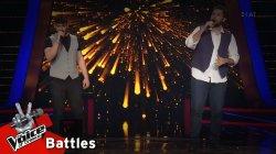 Λάμπης Γιακουμάκης vs Κωνσταντίνος Μαθιουδάκης - Χειμώνας είναι | 1o Battle | The Voice of Greece