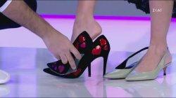 """Ο Στ. Κουδουνάρης """"δανείστηκε"""" τα παπούτσια της Ε. Χριστοπούλου"""