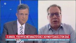 Κουμουτσάκος σε ΣΚΑΪ: Ο διάλογος με Τουρκία πρέπει να γίνει σε μια ατμόσφαιρα που το επιτρέπει | 21/06/2020