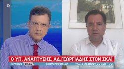 Ο υπουργός Ανάπτυξης Άδωνις Γεωργιάδης στον ΣΚΑΪ | 12/07/2020