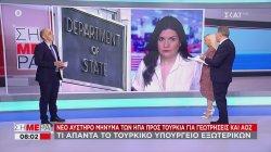 Αυστηρό μήνυμα των ΗΠΑ προς Τουρκία για γεωτρήσεις και ΑΟΖ | 09/07/2020