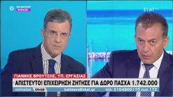 Γ. Βρούτσης: Επιχείρηση ζήτησε για δώρο Πάσχα 1.742.000