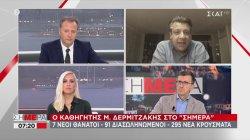 Δερμιτζάκης στον ΣΚΑΪ: Η Ελλάδα πιθανόν έχει πάνω από 1000 κρούσματα την ημέρα