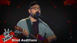 Βασίλης Λουκαδάκης - Losing My Religion | 4o Blind Audition | The Voice of Greece