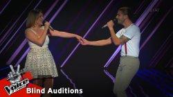Θανάσης Κωνσταντινίδης & Ηλιάνα Χατζηιωαννίδου - Ο ωραίος κι η ωραία | 6o Blind Audition | The Voice of Greece