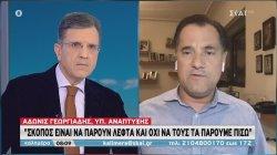 Ο υπουργός Ανάπτυξης Α. Γεωργιάδης στον ΣΚΑΪ