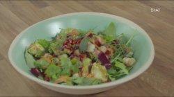 Ρεβίθια σαλάτα με σπανάκι και παντζάρι