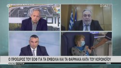 Ο Πρόεδρος του ΕΟΦ για τα εμβόλια και τα φάρμακα κατά του κορωνοϊού