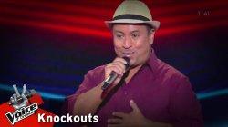 Javier Silva Escola - Si me dejas no vale | 1o Knockout | The Voice of Greece