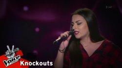 Αλεξάνδρα Καμινίδου - I see red | 1o Knockout | The Voice of Greece