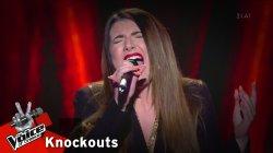Ειρήνη Παζάκου - Million reasons | 1o Knockout | The Voice of Greece
