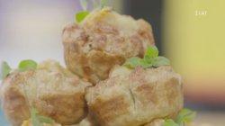 Σφολιατοπιτάκια με ψητό χοιρινό