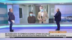 Σε εξέλιξη οι εμβολιασμοί στην Ελλάδα - Περισσότεροι από 300.000 έχουν εμβολιαστεί