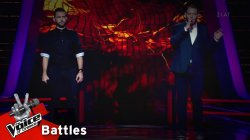 Σταύρος Κρητικός  vs Σταύρος Πηλιχός - Ή Εσύ Ή Εγώ | 2o Battle | The Voice of Greece