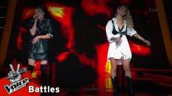 Νάντια Ιαρατζούλι vs Αντωνία Καούρη - Gangsta's paradise / Survivor | 1o Battle | The Voice of Greece