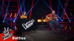 Κωνσταντίνος Κρομμύδας vs Στέφανος Καρπέτης - Angie | 1o Battle | The Voice of Greece