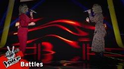 Ευγενία Λιακοπούλου vs Κατερίνα Μπαταλογιάννη  - Το αγριολούλουδο | 1o Battle | The Voice of Greece