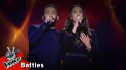 Νίκος Νικολαίδης vs Άννα Σακκά - Με λες αγάπη | 1o Battle | The Voice of Greece