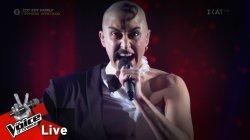 Αλέξης Νίκολας - The Phantom of the opera | 2o Live | The Voice of Greece