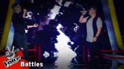Χάρης Χαλαμούτης vs Μαρσελίνο Σερίφι - Ένας κόμπος η χαρά μου | 1o Battle | The Voice of Greece