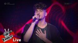 Σπύρος Βραχλιώτης - Hello | 1o Live | The Voice of Greece