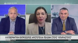 Η κυβερνητική εκπρόσωπος Αριστοτελία Πελώνη στους Αταίριαστους