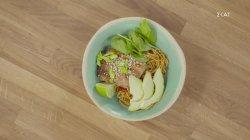 Σολωμός Teriyaki με noodles
