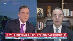 Σταϊκούρας- ΣΚΑΪ: : Τρίτη, Τετάρτη μεγάλες πληρωμές επιστρεπτέας - Δημοσιονομική ευελιξία το 2021- 2022
