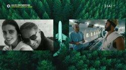 Ο Βασίλης Μαντζουράνης στο αεροπλάνο της Ολυμπιακής που έχει γίνει σπίτι στο Όρεγκον