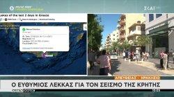 Ο Ευθύμιος Λέκκας για το σεισμό της Κρήτης