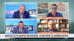 Μανωλόπουλος - Ανδρέου: Ανησυχία για το άνοιγμα των σχολείων
