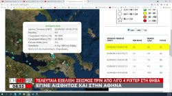 Τελευταία εξέλιξη: Σεισμός 4 ρίχτερ πριν από λίγο στη Θήβα