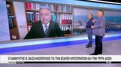 Ο καθηγητής Θ. Βασιλακόπουλος για την έξαρση κρουσμάτων και την τρίτη δόση