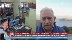 Λέκκας: Γιατί δε λέμε με βεβαιότητα ότι ο σεισμός στην Κρήτη ήταν ο κύριος