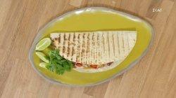 Quesadillas με λαχανικά και guacamole