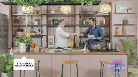 Ο Γιάννης Αποστολάκης μαγηρεύει χταποδάκι με ζυμαρικά