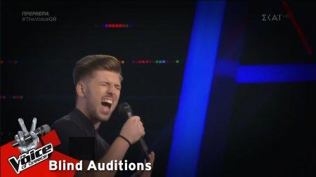 Μανώλης Βασιλάκης - Μια χαρά να περνάς | 1o Blind Audition | The Voice of Greece