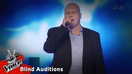 Βαγγέλης Παπατζανάκης - Come what may | 9o Blind Audition | The Voice of Greece