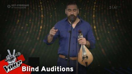 Κώστας Χειλάς - Η Μπαλάντα του κυρ-Mέντιου | 3o Blind Audition | The Voice of Greece