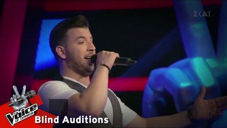 Δημήτρης Καπνιστός - Σου μιλώ και κοκκινίζεις | 14o Blind Audition | The Voice of Greece