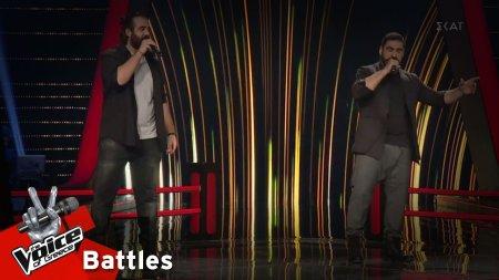 Θαρρενός Περίδης vs Κώστας Χειλάς - Να σταθώ στα πόδια μου | 1o Battle | The Voice of Greece