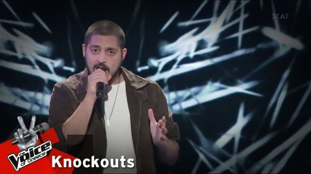 Θάνος Ζαμπετάκης - Livin'on a prayer | 4o Knockout | The Voice of Greece