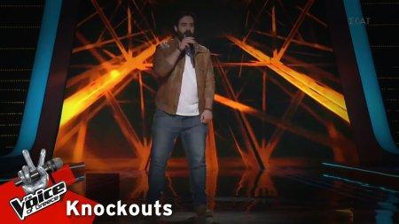 Θαρρενός Περίδης- Rock n' roll στο κρεβάτι | 1o Knockout | The Voice of Greece